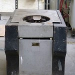 Inductrion furnace of 25 kg capacity.